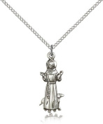 St. Francis Medal, Sterling Silver