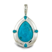 Sterling Silver Kingman Blue Turquoise Enhancer