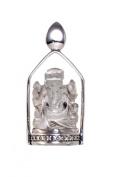 Ganesh Crystal Quartz Yoga Pendant Sterling Silver