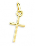 Classic Cross Pendant 14k Yellow Gold Charm