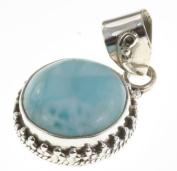 925 Sterling Silver LARIMAR Pendant, 3.2cm , 6.31g