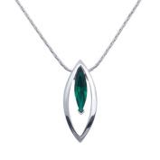 Annaleece Necklace - Emerald Marquis
