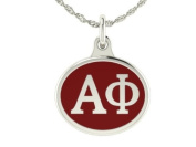 Alpha Phi Sorority Charm Pendant. Solid Sterling Silver with Enamel