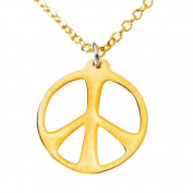 Medium Gold Dipped Peace Symbol on Chain