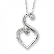 Sterling Silver CZ 45.7cm Necklace
