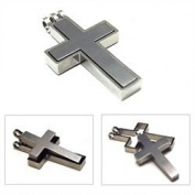 Accents Kingdom Titanium Classical Cross Pendant Necklace C3