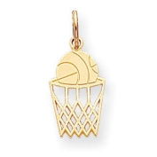 10K Yellow Gold BASKETBALL Charm. Gold Weight- 0.79g.
