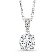 0.50 ct Cubic Zirconia Ladies Solitaire Pendant in Sterling Silver.New Lovely