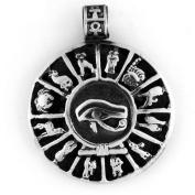 Egyptian Jewellery Silver Eye of Horus Pendant