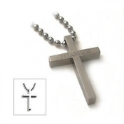 Accents Kingdom Titanium Classical Cross Pendant Necklace C1