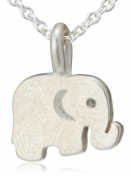 "Dogeared Jewels and Gifts Reminder ""Good Luck"" Sterling Silver Elephant Pendant Necklace"