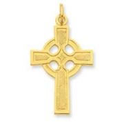 Sterling Silver & 24k Gold -plated Celtic Cross Pendant