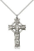 Celtic Cross Pendant, Sterling Silver