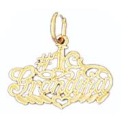 14K Yellow Gold #1 Grandma Pendant