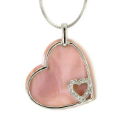 Pink Mother-of-Pearl Swinging Heart Pendant