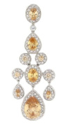 Very Chic Chandelier Pendant w/Champagne & White CZs