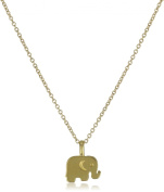 "Dogeared Jewels and Gifts Reminder ""Good Luck"" Gold-Plated Sterling Silver Elephant Pendant Necklace"