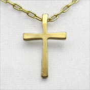 Large Gold Dipped Cross Pendant Necklace on Cable Cain