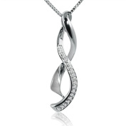 Journey Diamond Infinity Pendant - Necklace in Sterling Silver