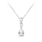 Studio 925 Windsor Cubic Zirconia Pear Drop Sterling Silver Necklace