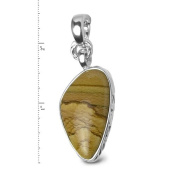 Sterling Silver Golden Desert Jasper Enhancer