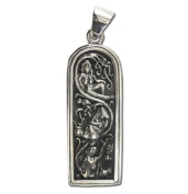 Sterling Silver Maiden Mother & Crone Pendant by Dryad Design