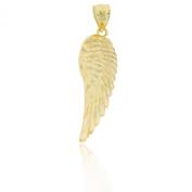 Gold Angel Wing Charm, 10k