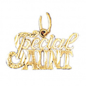 14K Yellow Gold Special Aunt Pendant