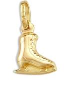 Ice Skating Shoe Pendant 14k Yellow Gold Charm