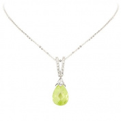 Studio 925 Key Lime Drop Peridot CZ Sterling Silver Pendant