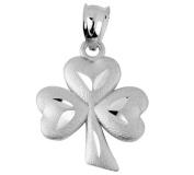 Gold Celtic Pendant - The 10K White Gold Clover Leaf