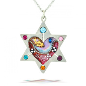 Star of David with Heart and Dove Necklace from the Artazia Collection #685 JN