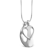 Loving Family® Large Sterling Silver Pendant with Extender - Couple