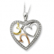 Sterling Silver Rose & Gold-Plated The Bond Of Love 45.7cm Heart Necklace
