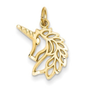14k Unicorns Head Pendant