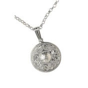 Sterling Silver Celtic Warrior Shield Necklace - Made in Ireland
