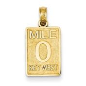 14k Mile 0 Key West Mile Marker Pendant