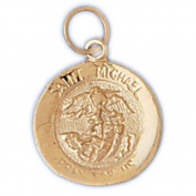 14K Yellow Gold st- Michael Pendant