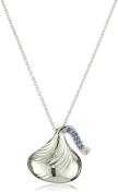 Hershey Jewellery Sterling Silver Medium Flat Back Shaped w/ diamond accent Pendant