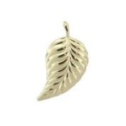 Gold Leaf Charm, 10k
