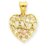 14k Gold Two-tone Nana Heart Pendant