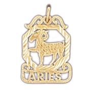 14K Yellow Gold Zodiac - Aries Pendant