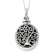 Sterling Silver Antiqued Tree of Life Ash Holder 45.7cm Necklace