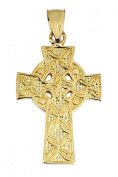 Gold Celtic Cross Pendant - The Traditional 10K Yellow Gold Ancient Celtic Cross