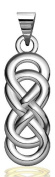 Large Thick Double Infinity Symbol Charm, Best Friends Forever Charm, Sisters Charm, 9mmx24mm in Sterling Silver
