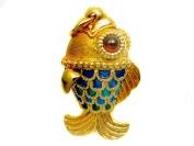 Faberge Style FISH PENDANT
