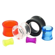 """Clear Acrylic Plain Double Flared Tunnel Plugs - 1"""" (25mm) - Sold as a Pair"""