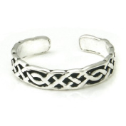 Sterling Silver Antique Celtic Knot Adjustable Toe Band Ring
