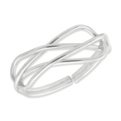 Sterling Silver Solid Toe Ring