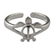 Hawaiian Jewellery Sterling Silver Honu Turtle Toe Ring